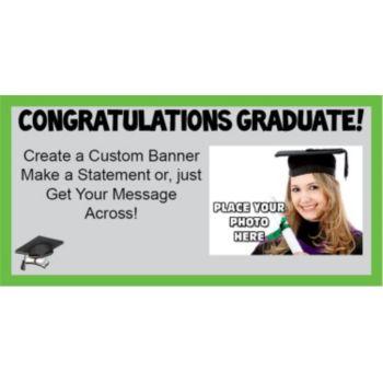 Graduation with photo Green