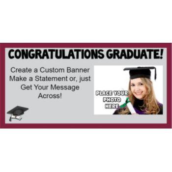Graduation with photo Maroon