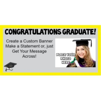 Graduation with photo Yellow