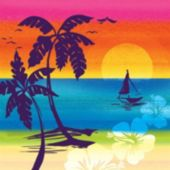 Aloha Summer Lunch Napkins - 16 Pack
