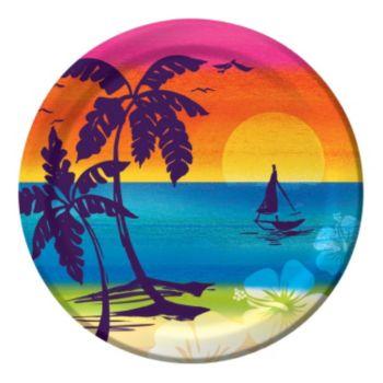 "Aloha Summer 8 34"" Plates"