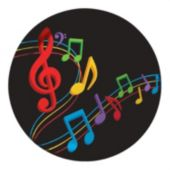 "Musical Memories 7"" Plates - 8 Pack"