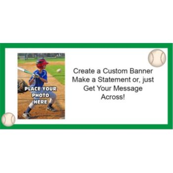 Baseball Theme Custom Photo Banner