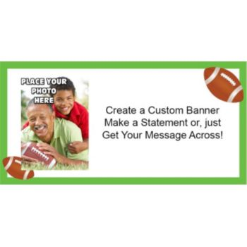 Football Custom Photo Banner