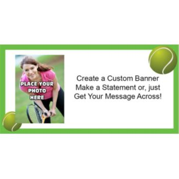 Tennis Theme Custom Photo Banner