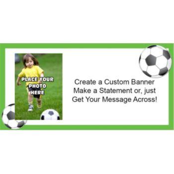 Soccer Theme Custom Photo Banner