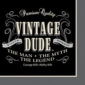 Vintage Dude Lunch Napkins  - 16 Pack