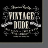 Vintage Dude Beverage Napkins - 16 Per Unit