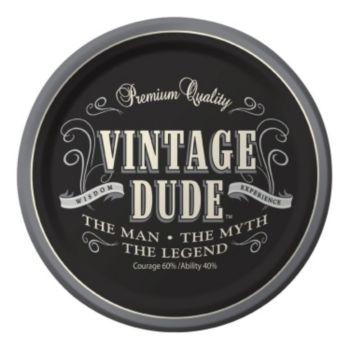 "Vintage Dude  7"" Plates"