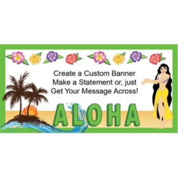 Aloha Sunset Custom Banner