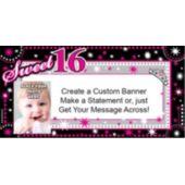 Look Who Is Sweet 16 Custom Photo Banner