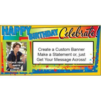 Celebrate Birthdays Custom Photo Banner