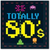 Totally 80's Beverage Napkins - 16 Pack