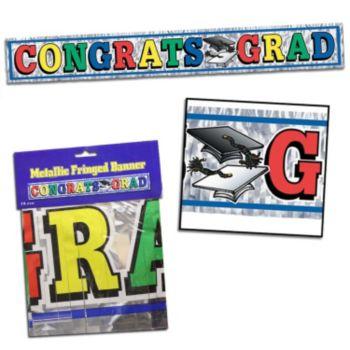Congratulations Grad Metallic Fringe Banner