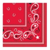 Red Bandana Beverage Napkins - 16 Pack