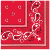 Red Bandana Lunch Napkins - 16 Pack