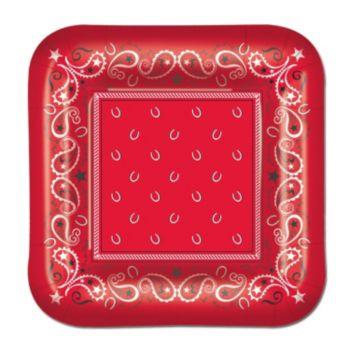 "Red Bandana  7"" Plates"