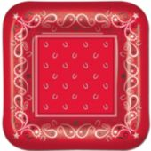 "Red Bandana 9"" Plates - 8 Per Unit"