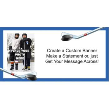 Hockey Custom Photo Banner