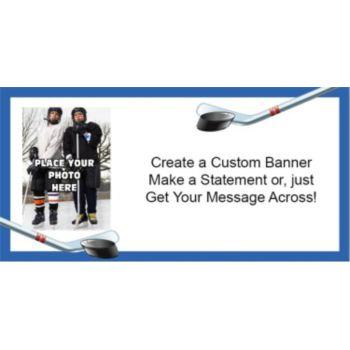 Hockey Custom Photo Banner