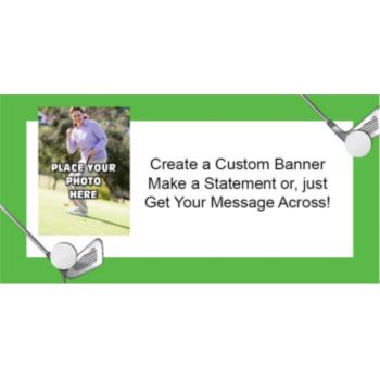 Golf Custom Photo Banner