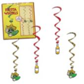 Fiesta Worm Whirl Decorations-5 Pack