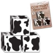 Cow Print Favor Boxes-3 Per Unit