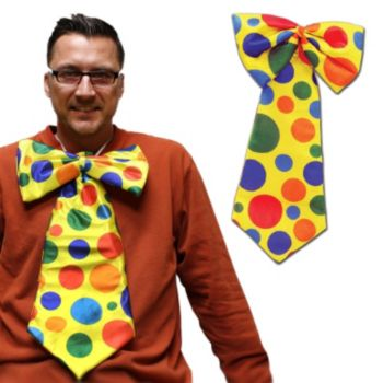 Clown Polka Dot Tie