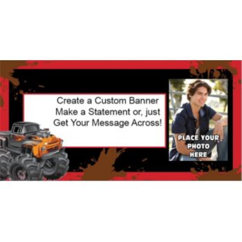 Mudslinger Monster Truck Custom Photo Banner