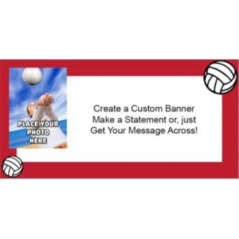 Volleyball Custom Photo Banner