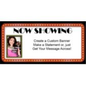 Now Showing Custom Photo Banner