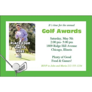 Golf Photo Personalized Invitations