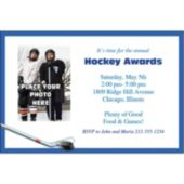 Hockey Theme Photo Personalized Invitations
