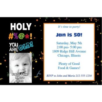 Holy Bleep Photo Personalized Invitations