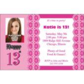 13th Birthday Personalized Photo Invitations