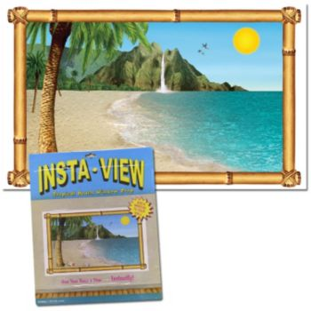 Tropical Beach  Window Prop