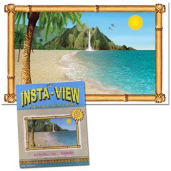 Tropical Beach  Window Prop