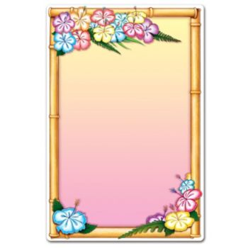 Luau Menu Board