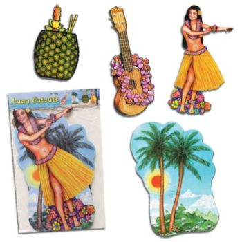 Tropical Luau Cutouts