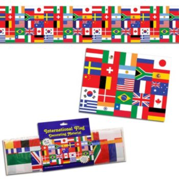 International Flag Plastic Decoration