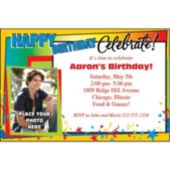 Celebrate Birthdays Personalized Photo Invitations