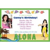 Aloha Hibiscus Photo Personalized Invitations