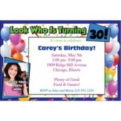 Look Who Is 30 Photo  Personalized Invitations