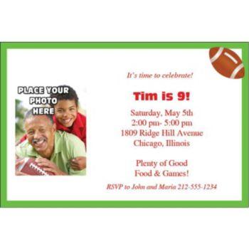 Football Photo Personalized Invitations