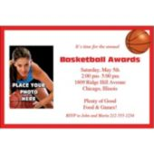 Basketball Photo Personalized Invitations