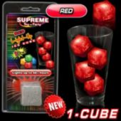 Red LED Lited Ice Cube - Retail Pack