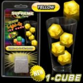 Yellow LED Lited Ice Cube - Retail Pack