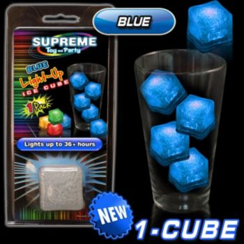 Blue Lited Ice Cube Retail Pack