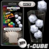 White LED Lited Ice Cube-Retail Pack