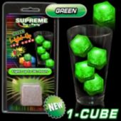Green LED Lited Ice Cube-Retail Pack